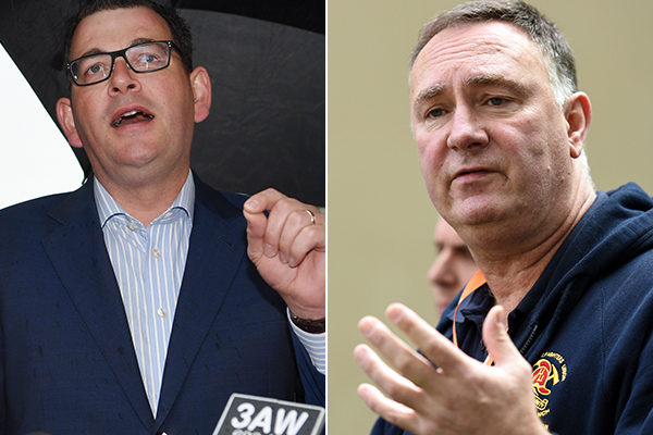 Article image for POLITICAL FIRESTORM | Union boss Peter Marshall turns on Premier, makes 'secret deal' threat