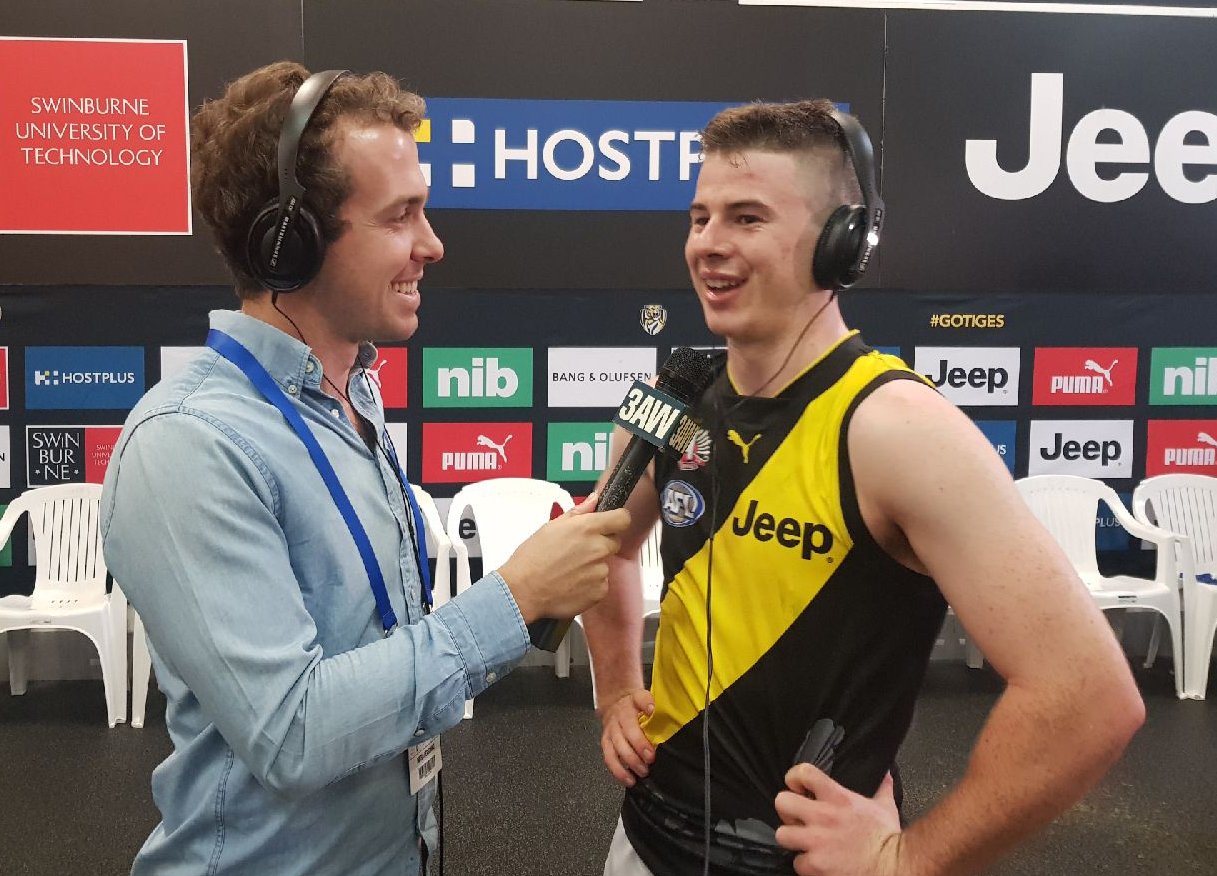 Article image for Youngster Higgins stars as Richmond belt the Demons
