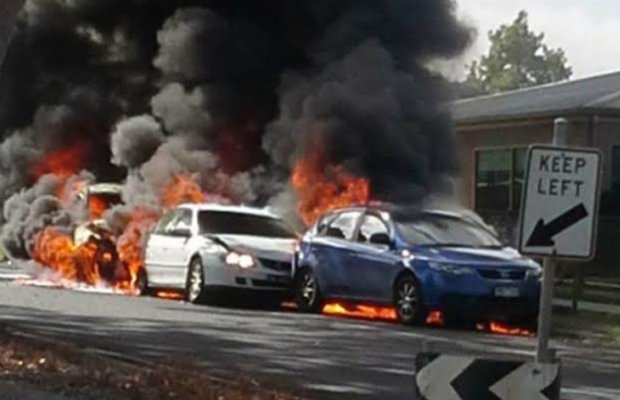 Article image for Woman assaulted, cars burst into flames during Gippsland rampage