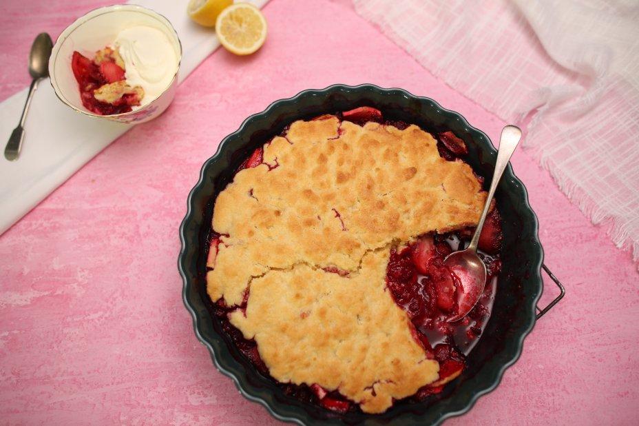 Emma Dean's recipe for apple and raspberry sponge pudding
