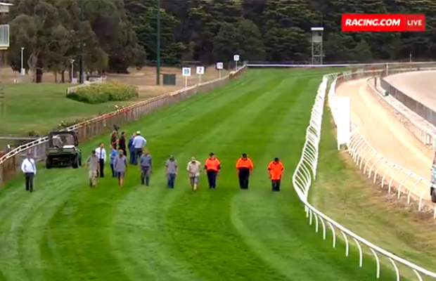 Article image for Police to investigate after metal stakes found in Victorian race track