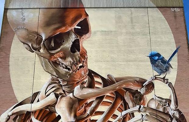 Article image for 'Frightening the kids': The street art dividing Franskton