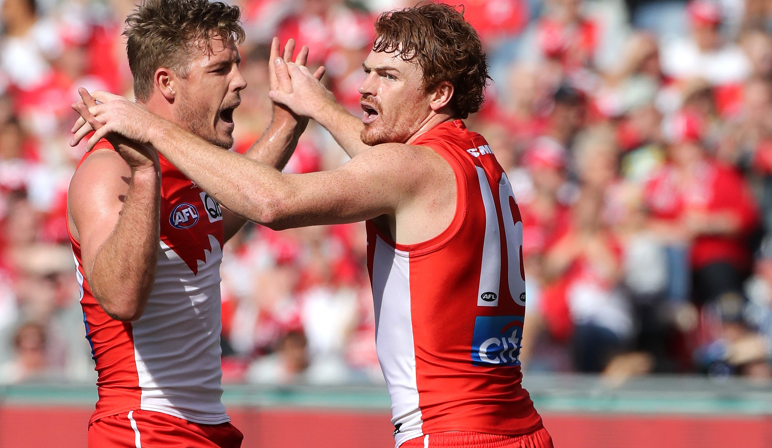 Article image for Sydney stuns the Cats in Geelong with final-quarter blitz