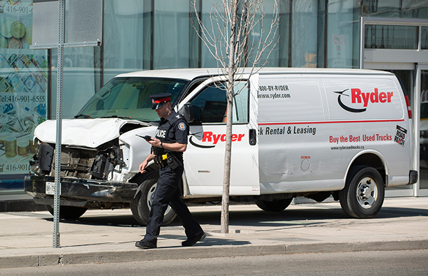 Article image for 'Oh my God, it was awful': Ten dead, 15 injured after van mows down Toronto pedestrians