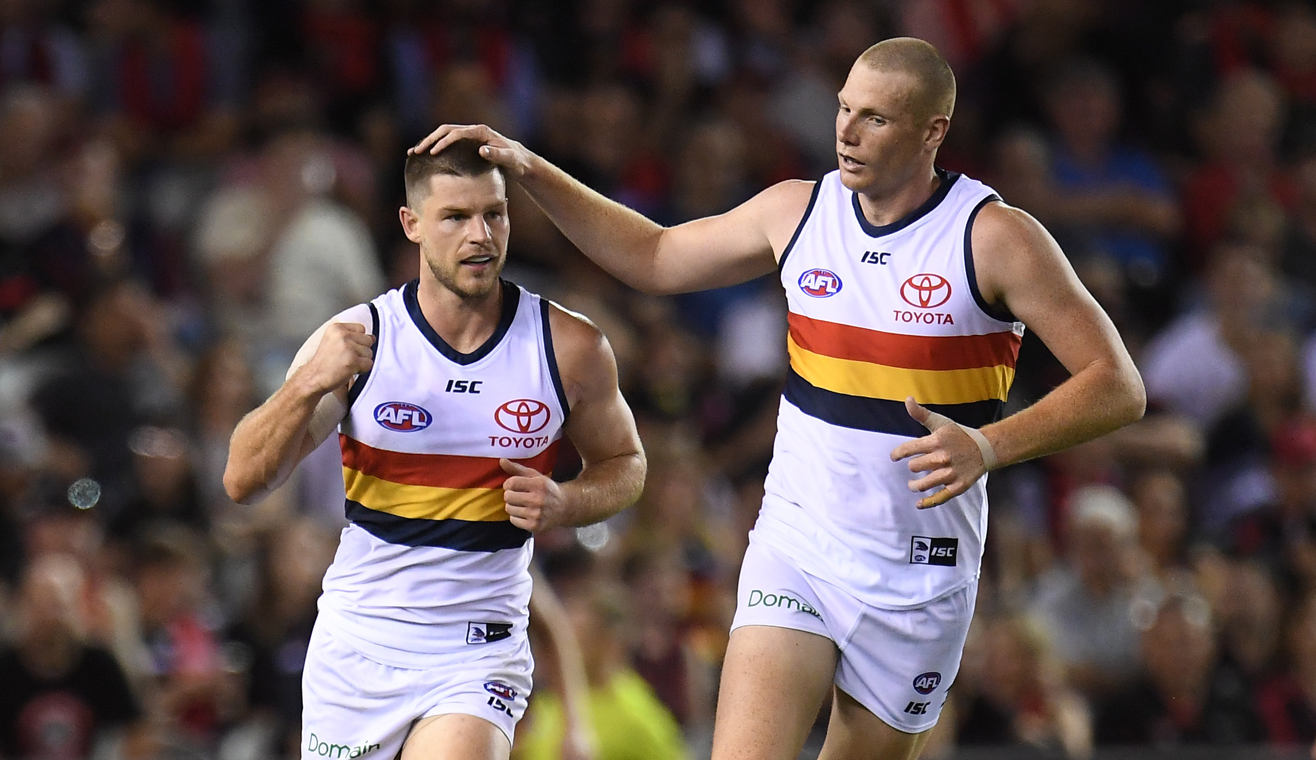 Article image for Adelaide rolls on but Carlton takes positives from the game