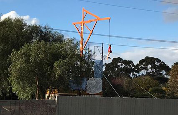 Article image for Dummy hanging from makeshift gallows outside Bacchus Marsh school