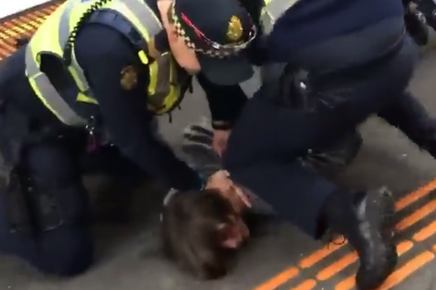 Article image for Alarming arrest of teenage boy at train station caught on video