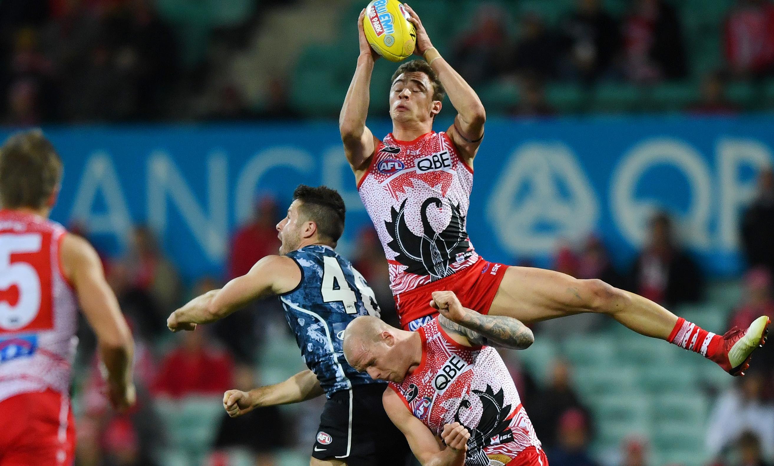 Article image for Swans soar to 30-point victory over Blues