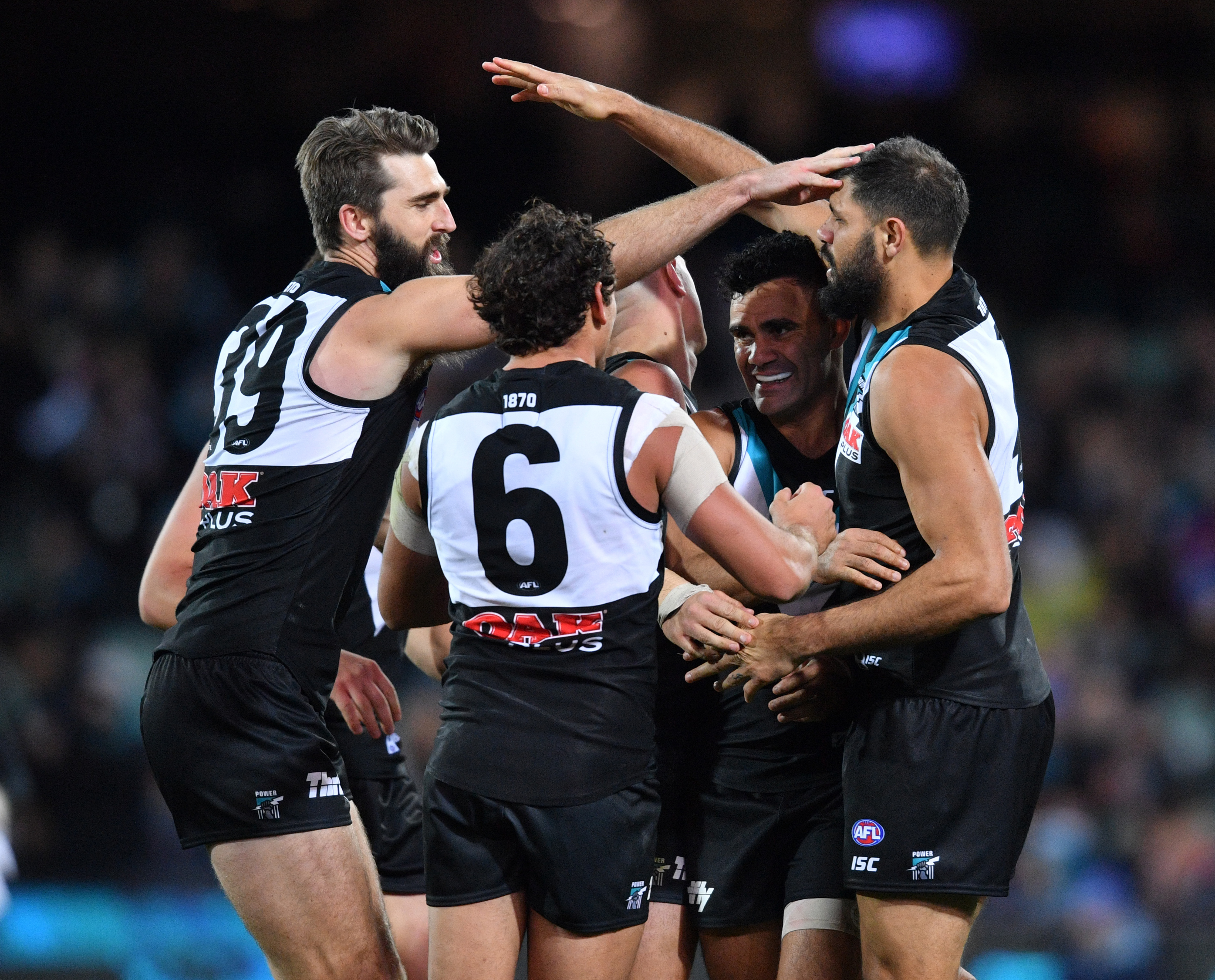 Article image for Port powers away to massive win over battered Bulldogs