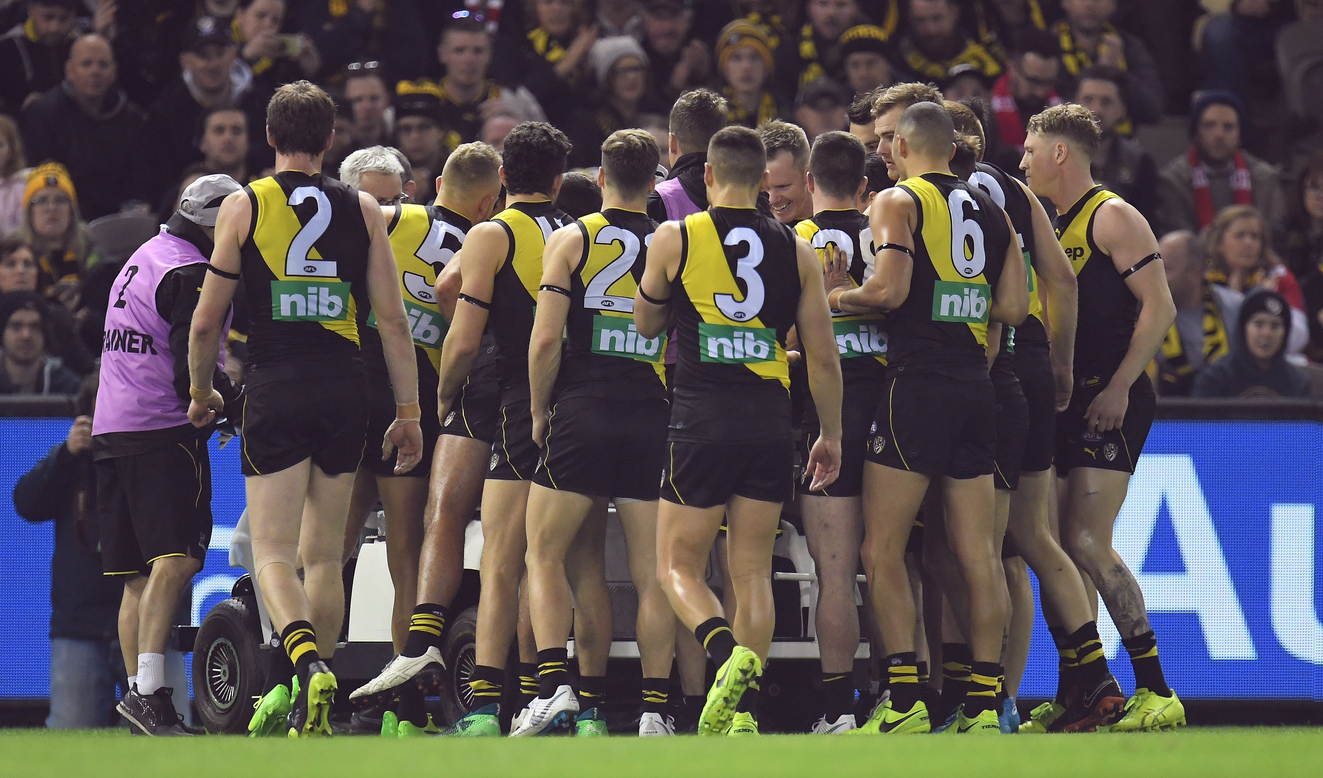 Article image for Tigers triumph: Moving scenes as Richmond rally around injured mate Conca