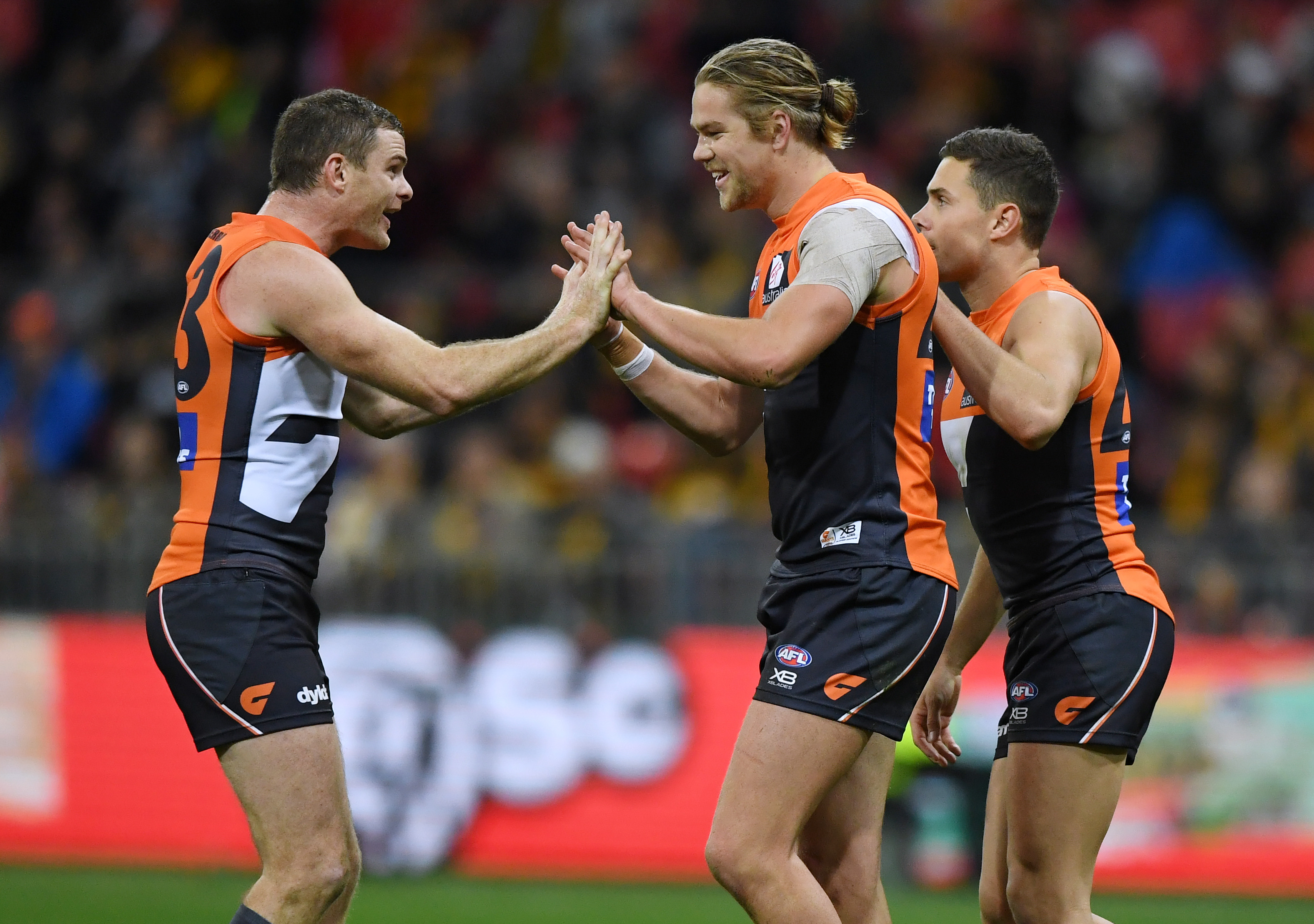 Article image for GWS jump into the eight with hard-fought victory over Hawthorn
