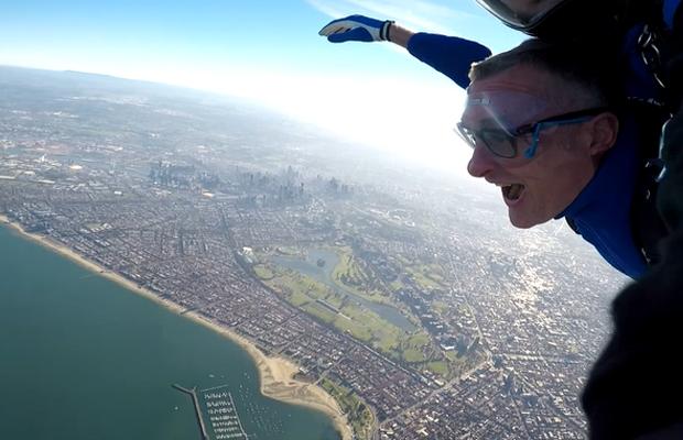 Article image for Tom Elliott skydives over Melbourne!