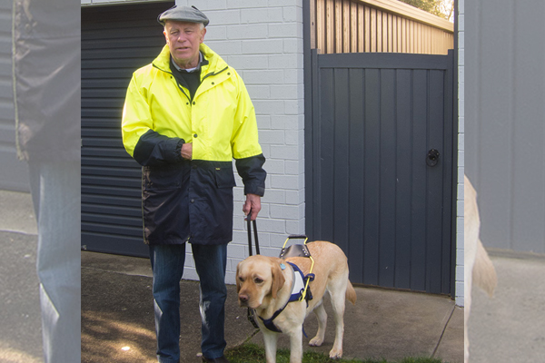 Article image for Blind man 'devastated and humiliated' after guide dog kicked out of restaurant