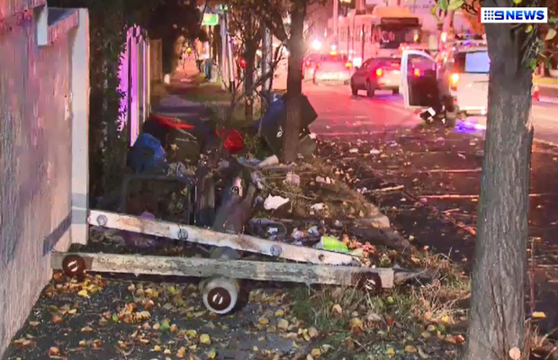 Article image for Allegedly drug-driving truckie causes chaos on Toorak Road