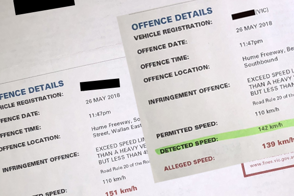 Article image for Driver pinged twice at same speed camera on the Hume Freeway