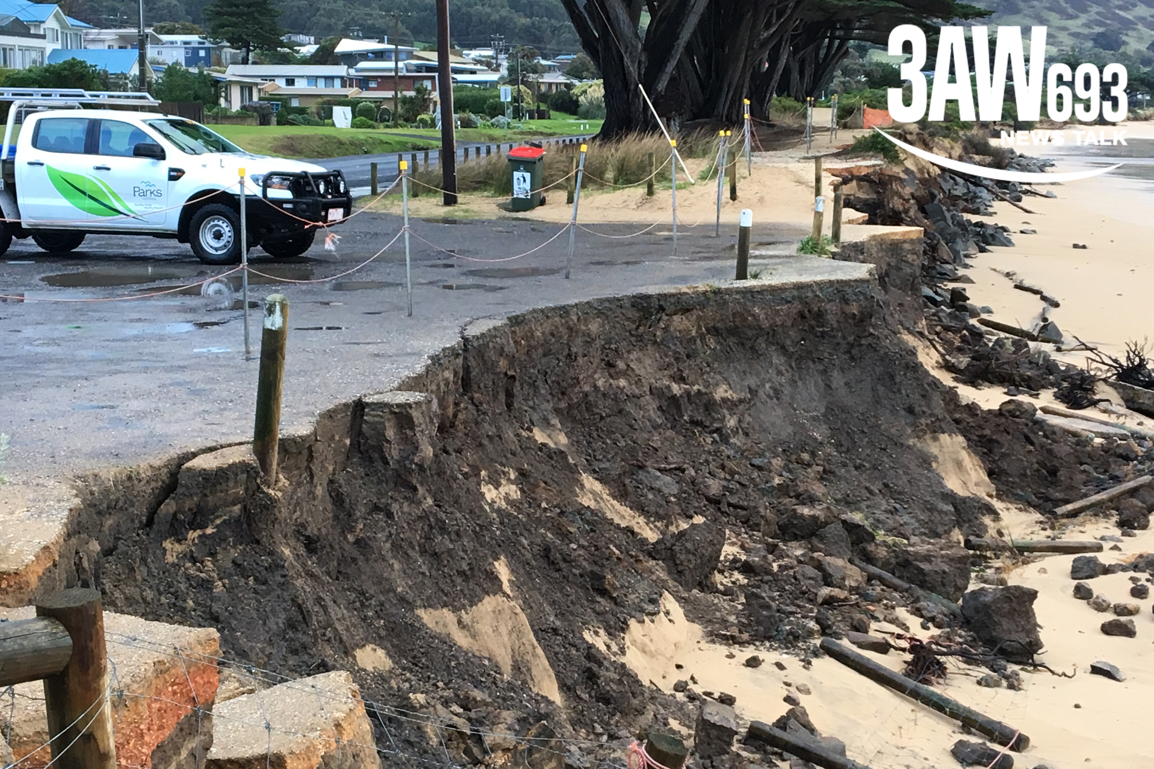 Article image for Rumour File: Great Ocean Road car park being washed away