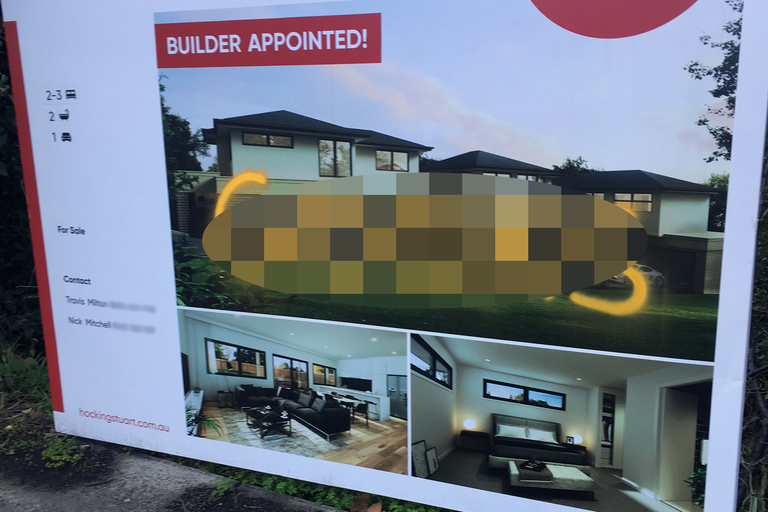 Article image for Another real estate board has been vandalised with racist graffiti