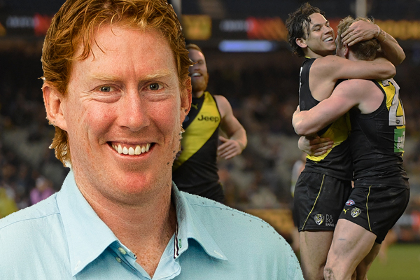 Article image for Lingy has to sing the Richmond song as Richo's Tigers beat his Cats!