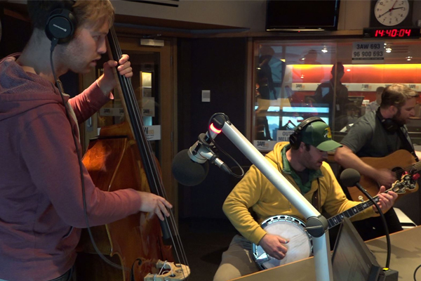 Article image for Mustered Courage performs bluegrass version of classic 80s hit
