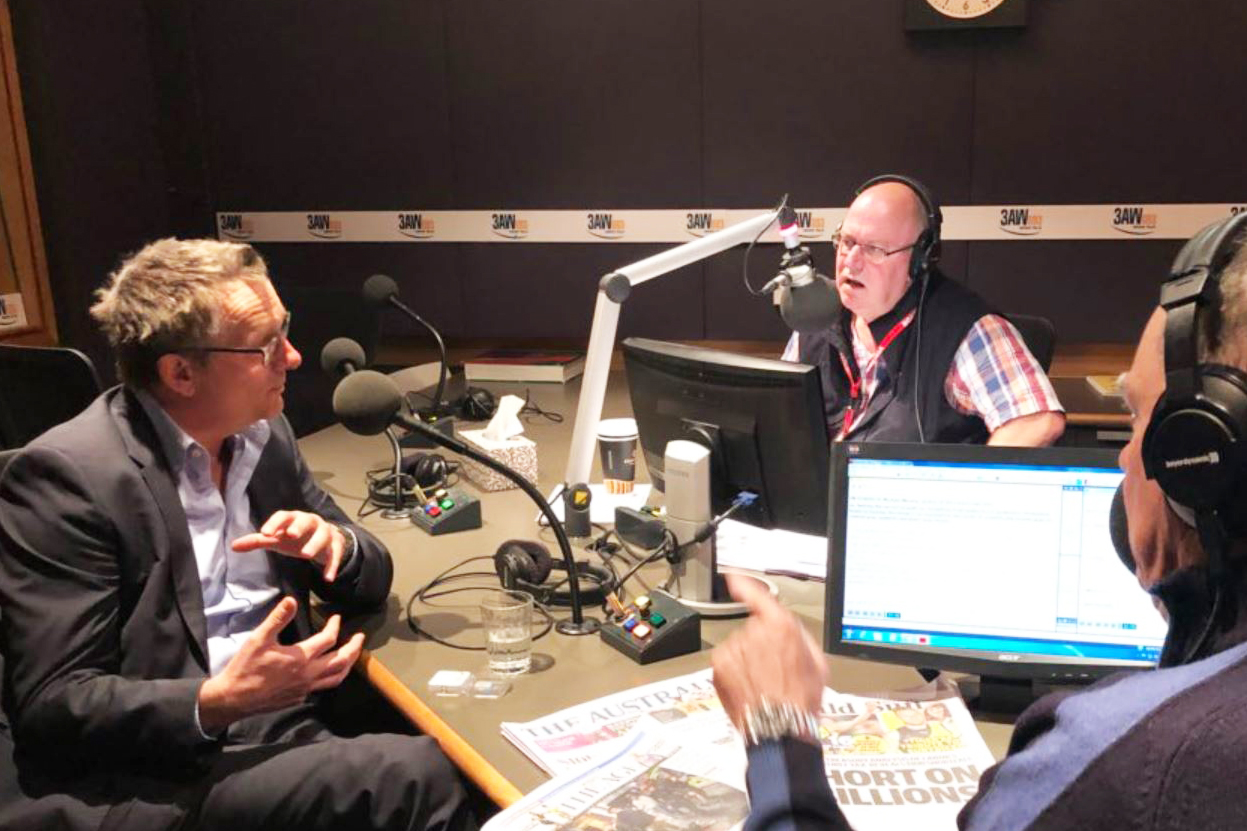 Article image for Gut specialist Dr Michael Mosley joins Ross and John in the studio