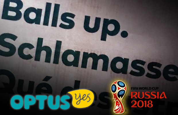 Article image for 'Balls up': Optus gives up on World Cup, takes out ads to say sorry