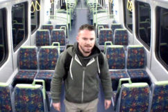 Man wanted over disgusting alleged act on morning train
