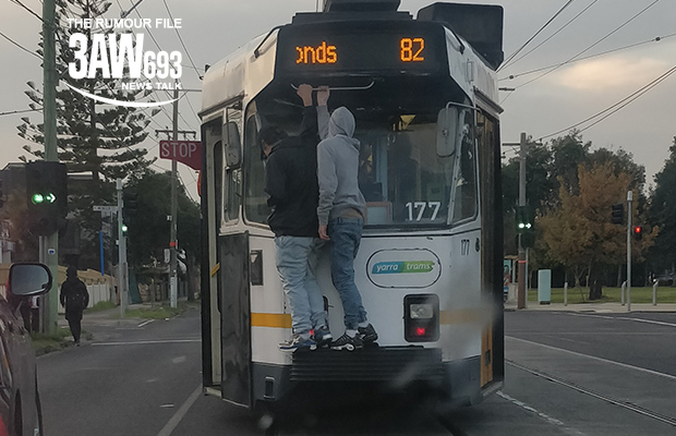 Article image for Rumour File: Tram surfers narrowly avoid injury