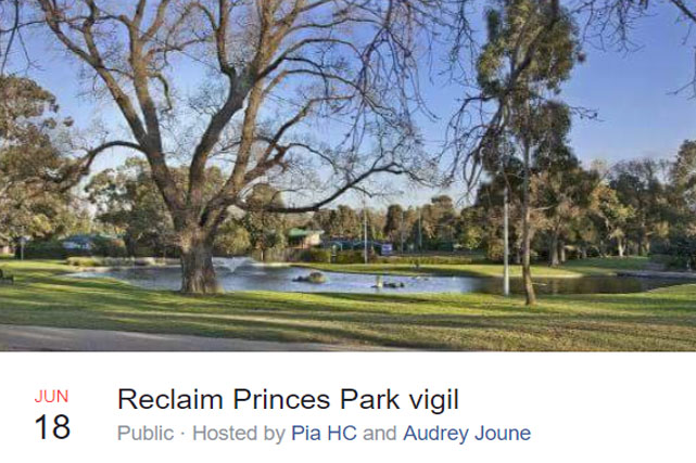 Article image for Vigil planned to reclaim Princes Park in the wake of Eurydice Dixon's death