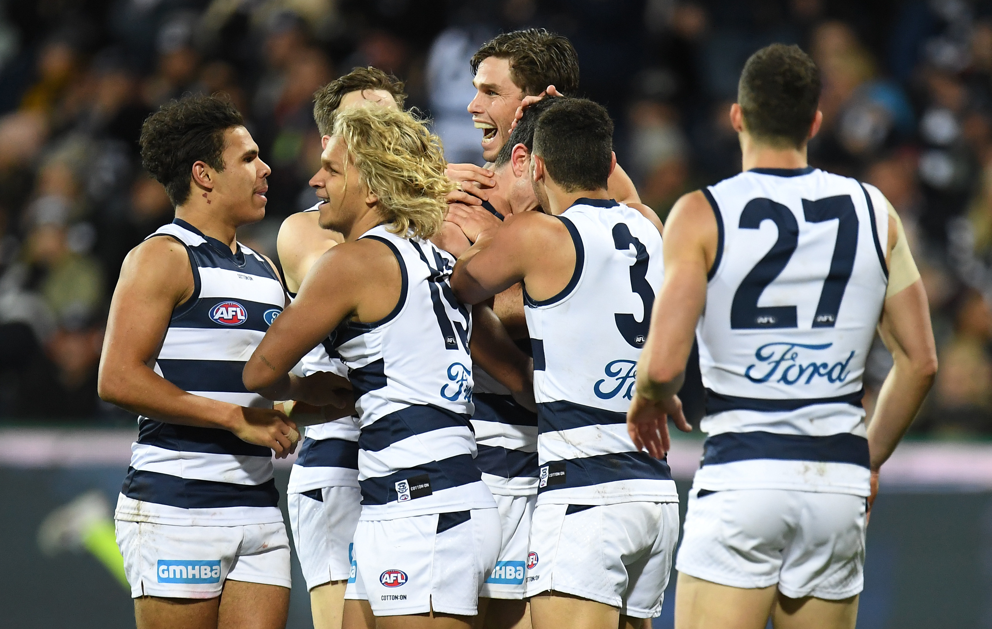 Article image for Geelong beats Melbourne in an after-the-siren thriller!