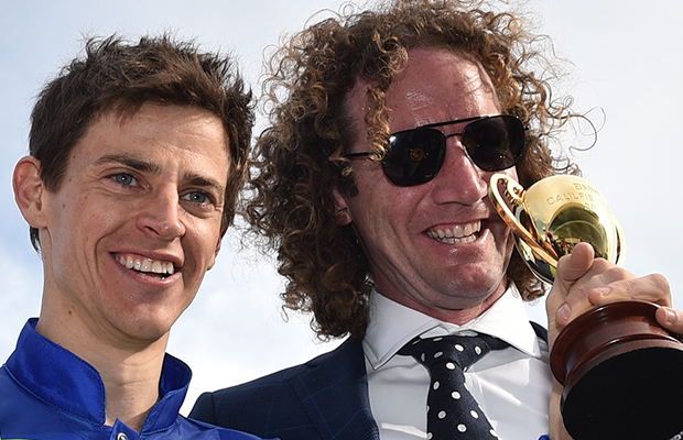 Article image for Leading horse trainer rushed to hospital after fall on Caulfield Cup winner