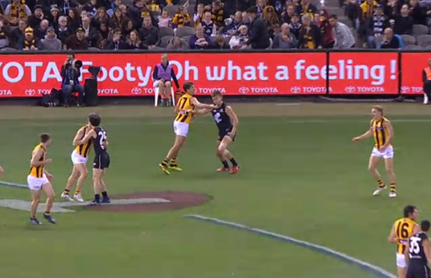 Article image for Hawthorn youngster feels wrath of Match Review Officer