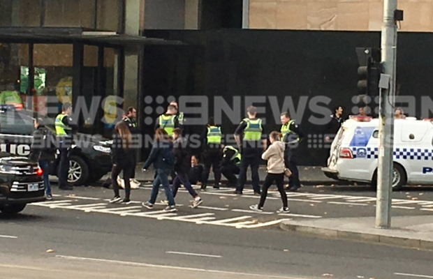 Article image for Dramatic scenes outside Crown Casino