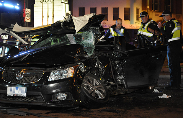 Article image for Man fighting for life after Pall Mall crash