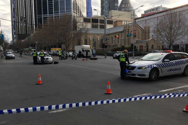 Article image for Motorcyclist left with serious injuries following serious crash in CBD