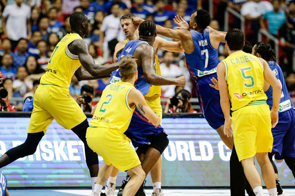 Article image for Boomers brawl: Basketball game descends into chaos