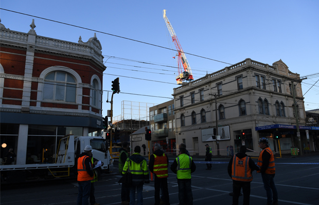 Article image for Crane pain: Bridge Road reopened, Richmond residents expected to return home tonight