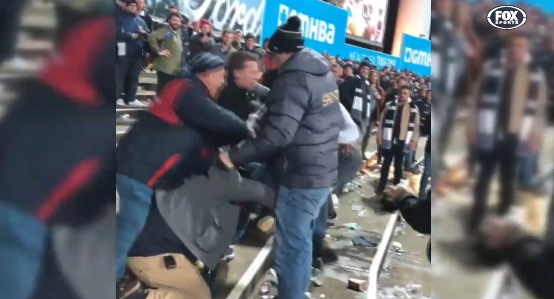 Article image for Geelong investigating after fan violence mars Saturday's win