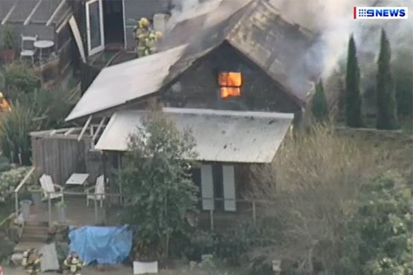 Article image for Former TV personality's house destroyed by fire