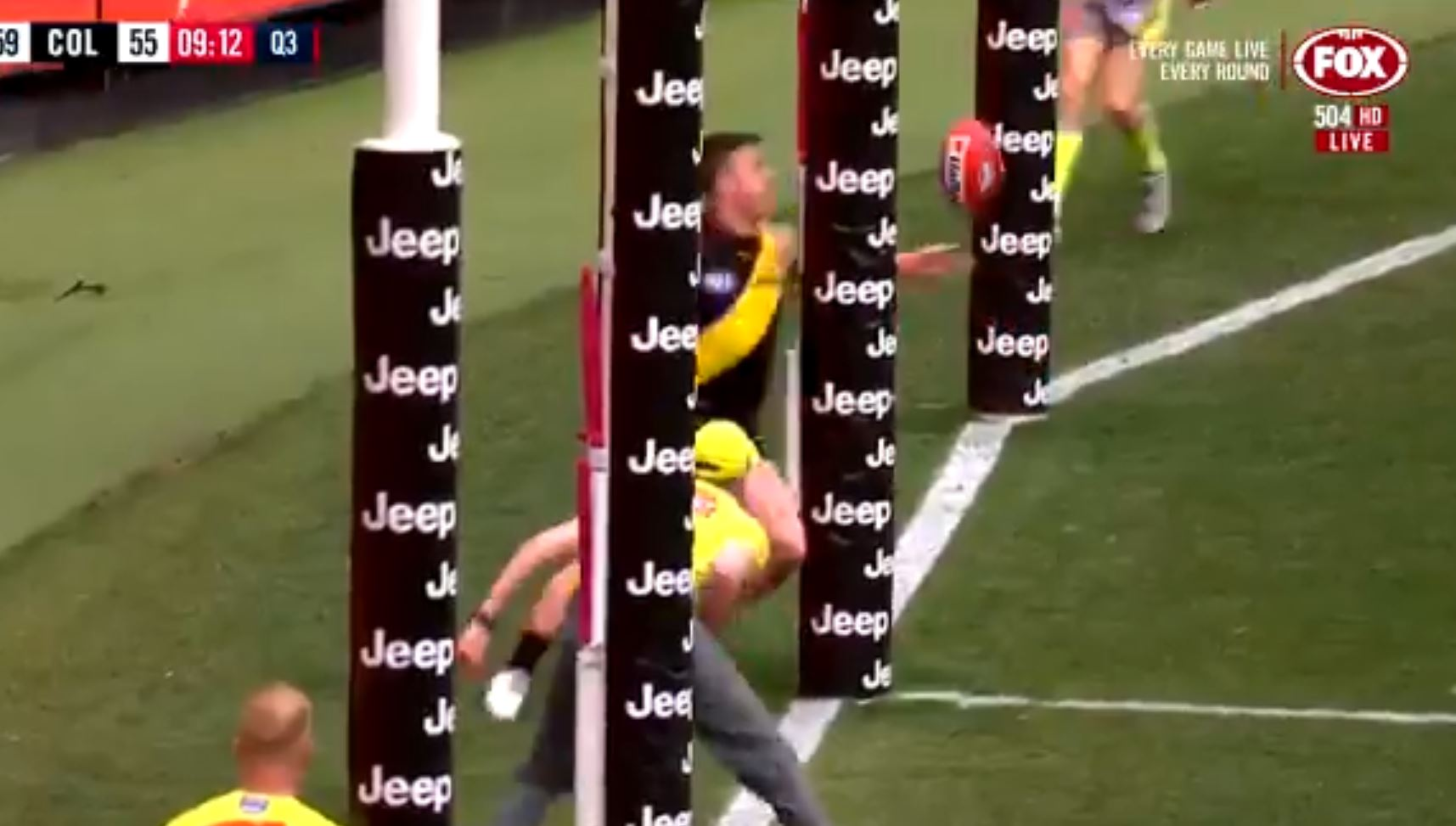 Article image for AFL clarifies the ruling around Jack Higgins' goal