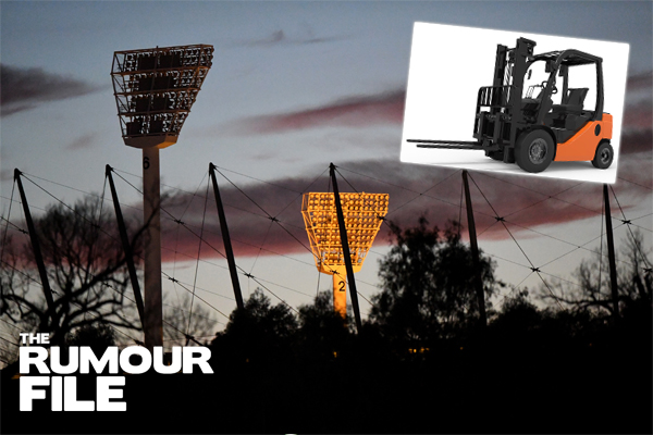 Article image for Rumour confirmed: Man takes forklift for joyride around MCG carpark