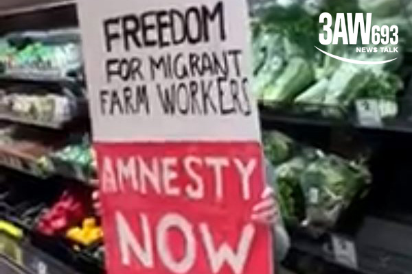 Article image for Video: 'Freedom for migrant workers' protesters storm supermarket