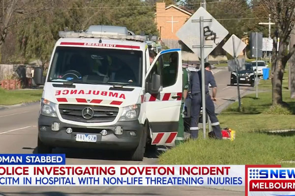 Article image for Woman hospitalised after stabbing at Doveton home