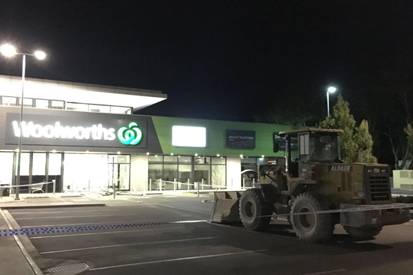 Article image for 'It's a huge mess': Tractor used in brazen ram raid at South Morang shopping centre