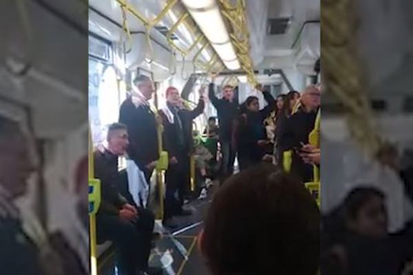 Article image for Video: Singing commuters on Melbourne tram