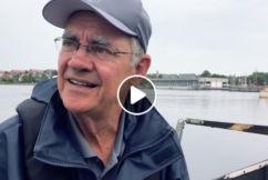 Video: Burnso skippers a viking ship across Nordic lake