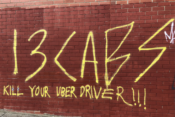 """Article image for Rumour File: """"Very disturbing"""" sign encouraging harm to Uber drivers"""