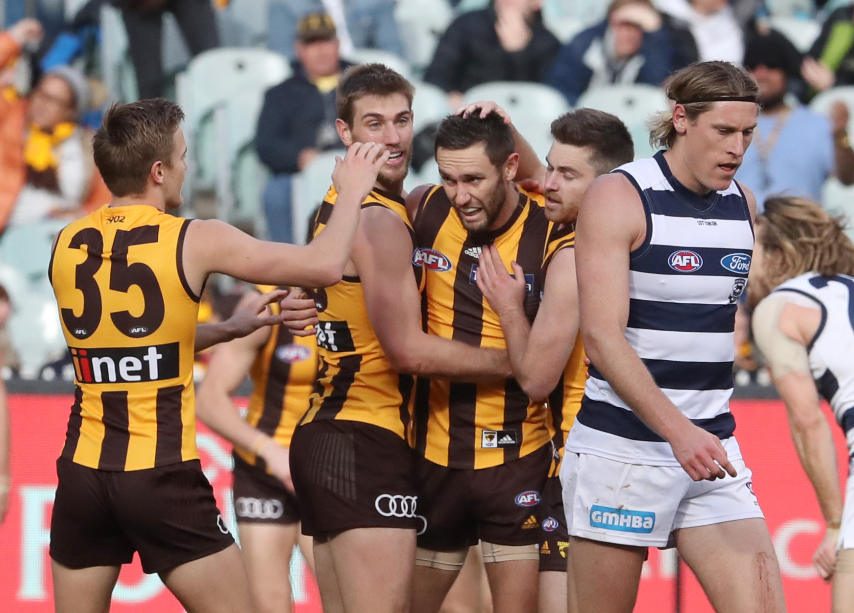 Article image for Hawthorn beats fast-finishing Geelong in another thriller