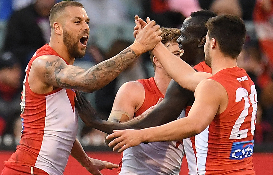 Article image for Sydney hangs on for a gutsy and important win over Melbourne