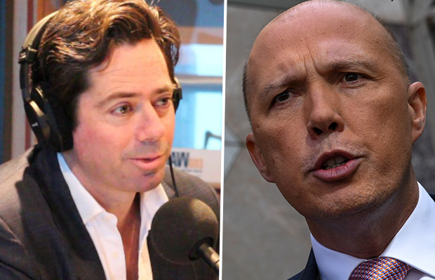 Article image for AFL boss denies getting 'special treatment' from Peter Dutton