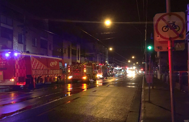 Article image for Lygon St closed: Closed supermarket goes up in flames
